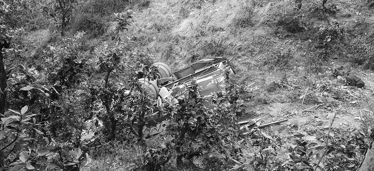 जन्ती बोकेको जीप कच्ची सडकमा दुर्घटना, ४ जनाको मृत्यु
