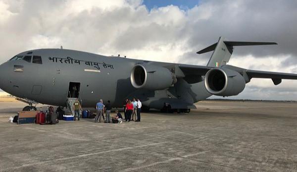 भारतीय वायुसेनाको सी१७ ले कोरोनाविरुद्धको लडाइँमा योगदान गर्दै
