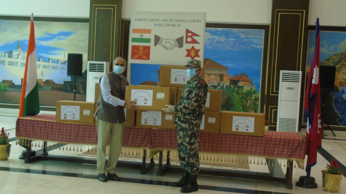 नेपाली सेनालाई भारतको सहयोग, दियो एम्बुलेन्सदेखि भेन्टिलेटरसम्म