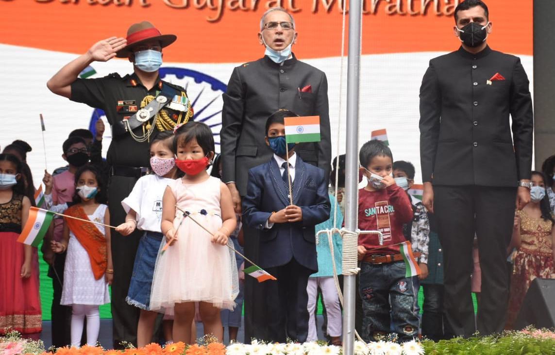 काठमाडौंमा भव्यताका साथ मनाइयो ७५ औं भारतीय स्वतन्त्रता दिवस